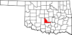 State map highlighting McClain County