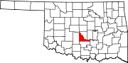 Map of Oklahoma highlighting McClain County.svg