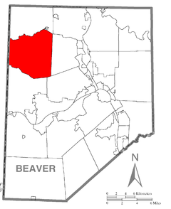Map of South Beaver Township, Beaver County, Pennsylvania Highlighted.png