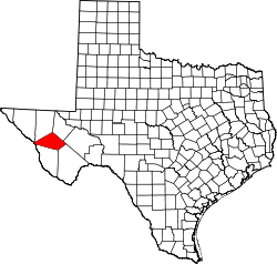 Map of Texas highlighting Jeff Davis County.svg