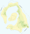 Map of Thera before the Minoan eruption (Druitt, Francaviglia).png