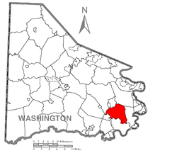 Location of West Pike Run Township in Washington County