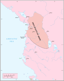 Map of the Principality of Arbanon