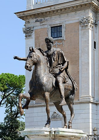 Capitoline Hill - Replica of the equestrian statue of Marcus Aurelius.
