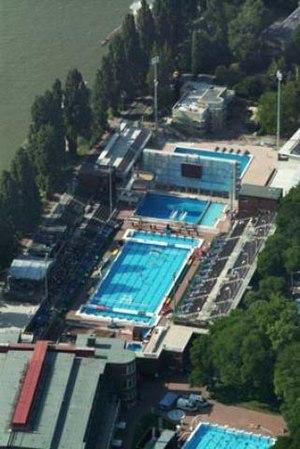 2010 European Aquatics Championships - Image: Margitsziget légifotó1