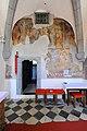 Maria Saal Poertschach am Berg Pfarrkirche Heiliger Lambert gotische Wandmalerei Turmquadrat 23092010 26.jpg