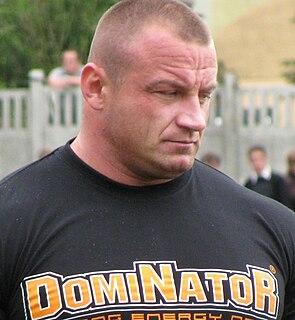 Mariusz Pudzianowski Polish strongman and mixed martial arts fighter