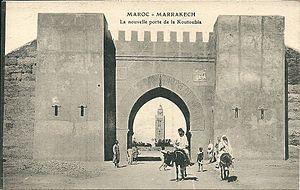 History of Marrakesh - Gate of Marrakesh, 1919