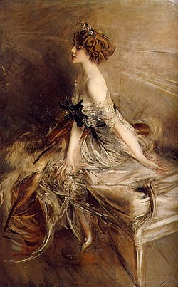Marthe Bibesco, in a 1911 painting by Giovanni Boldini