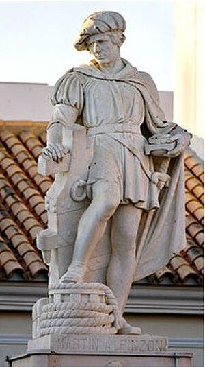 Pinzón brothers - Statue of Martín Alonso Pinzón in Palos de la Frontera.