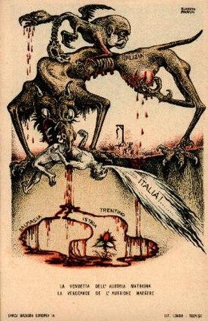 Alberto Martini - propaganda postcard ca.1914