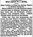 Mary Conboy and her saloon in the News Of Jersey City in Jersey City, New Jersey on March 10, 1891.png