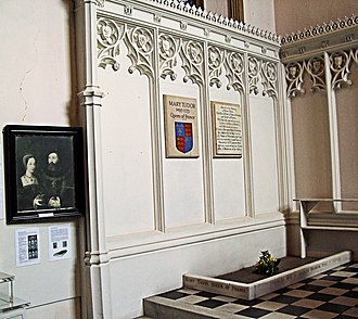 Mary Tudor, Queen of France - Burial place of Mary Tudor in St. Mary's Church, Bury St. Edmunds