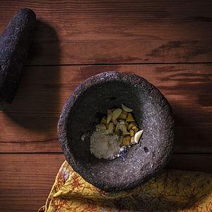 Masala in a grinding stone.jpg