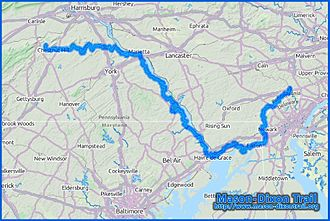 Mason-Dixon Trail - A rough overview of the 200-mile-long Mason-Dixon Trail