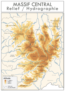 contreforts du massif central