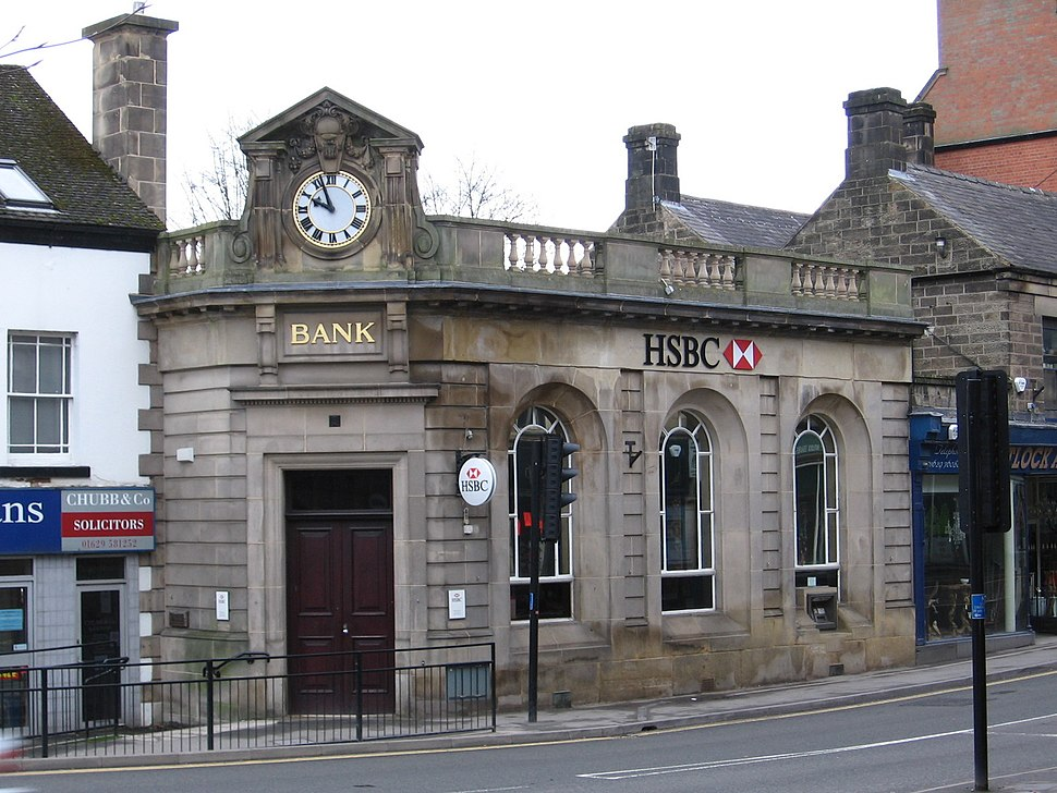 Matlock - HSBC Bank on Dale Road (Geograph-2242878-by-Dave-Bevis)