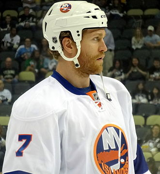 Matt Carkner - Carkner with the New York Islanders during the 2013 playoffs