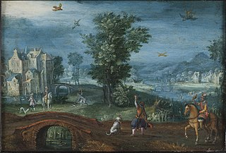 Landscape with Falconers