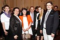 Matthias Laurenz Gräff and Georgia Kazantzidu, together with the Greek Ambassadress of Vienna, H. E. Chryssoula Aliferi, welcome the Greek Eurovision Song Contest Singer Maria Kiryakou.JPG