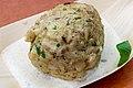Matzo Ball Stuffed with Smoked Meat, Mustard Sauce (Fülemüle Restaurant) (42217914191).jpg