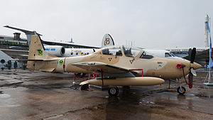 Military of Mauritania - Mauritania Air Force A-29B Super Tucano at Paris Air Show 2013.