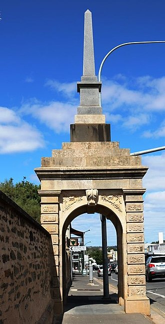 John McKinlay - The McKinlay Monument, erected in memory of John McKinlay in 1875,  located in Gawler, South Australia.