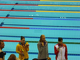 Swimming at the 2012 Summer Olympics – Women's 100 metre butterfly - Medal winners