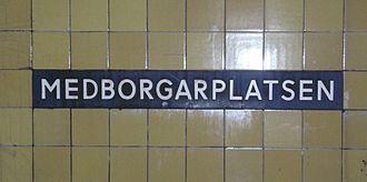 Medborgarplatsen metro station - Medborgarplatsen metro station