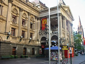 Melbourne Town Hall - During the Melbourne International Comedy Festival the Melbourne Town Hall acts as venue to a large number of the performances.