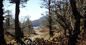 Lake Menmecho - Image: Menmoi Tso lake..the distance first look