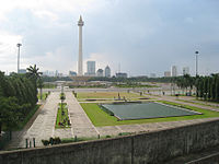 Merdeka Square view from Gambir Station.JPG