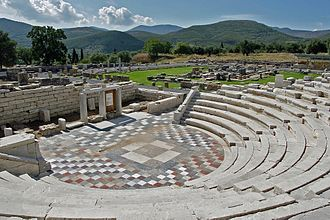 Messene - View of the Odeon.