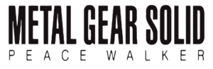 Immagine Metal Gear Solid Peace Walker logo.png.