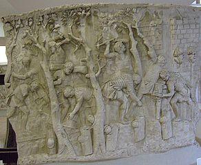 Metopa Columna lui Traian Constructie drum.jpg