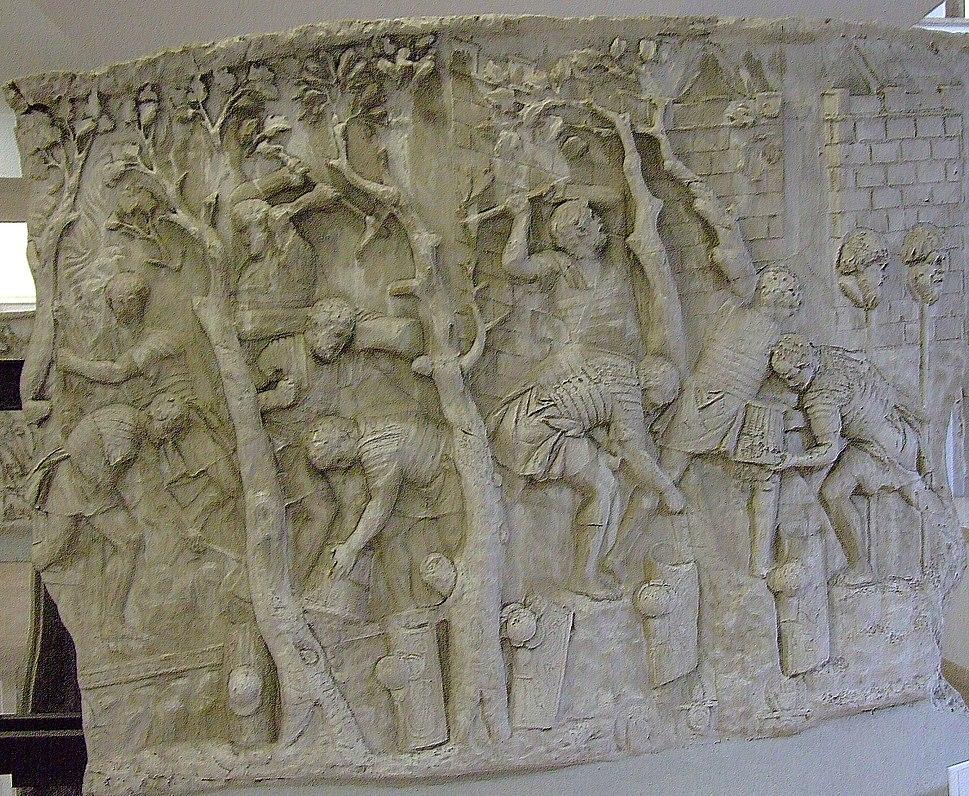 Metopa Columna lui Traian Constructie drum