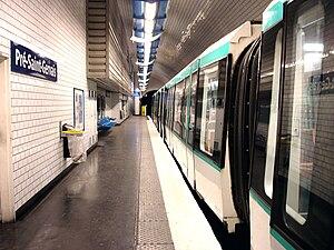 Pré-Saint-Gervais (Paris Métro) - Image: Metro de Paris Ligne 7bis Pre Saint Gervais 02