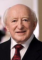 Amtierender irischer Präsident Michael D. Higgins