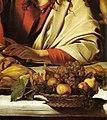 Michelangelo Merisi da Caravaggio - Supper at Emmaus (detail) - WGA04145.jpg