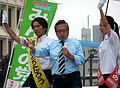 Michitaro Watanabe, Yoshimi Watanabe, Tomomi Oki 2013-07-17.JPG