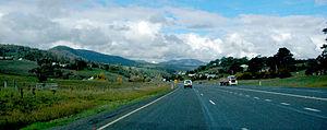 Midland Highway (Tasmania) - Midland Highway, at Dysart