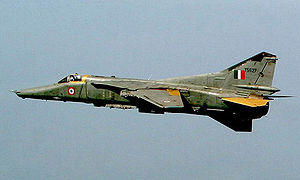 Eine MiG-27 der Indian Air Force