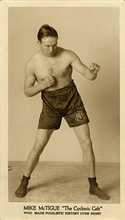 Mike McTigue Irish boxer