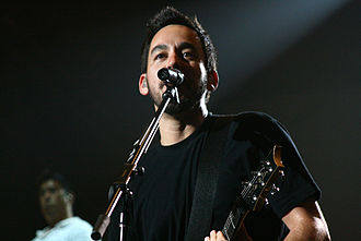 Linkin Park - Mike Shinoda performing with Linkin Park in 2008 during the Projekt Revolution tour