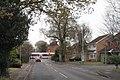 Mill Lane, Dorridge, crossed by a train - geograph.org.uk - 2196450.jpg