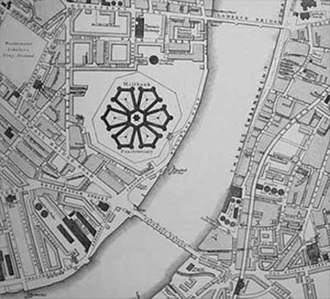 Millbank Prison - Map of 1867, showing the prison and its surroundings