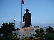 İstanbul, Büyükçekmece'de bulunan Mimar Sinan heykeli