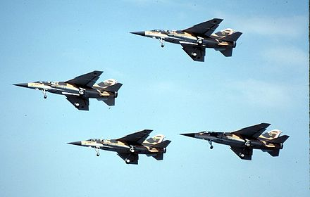 SADF Mirage F1s in close formation. The great distances they had to fly to reach the operational area would prove to be a handicap during Operations Hooper and Packer. Mirage F1CZ Formation.jpg