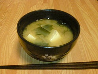Miso soup - Miso soup with tofu, wakame and scallion