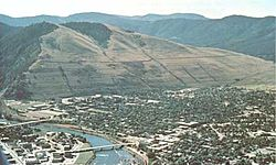 Missoula Glacial Missoula shorelines on Mount Sentinel.jpg